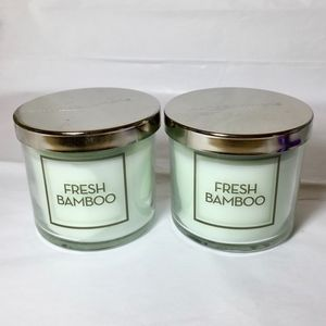 2 FRESH BAMBOO Single Wick 4 oz Candles